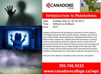 Canadore College, Parry Sound - Introduction to Paranormal