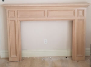 Wood Fire Place Mantle