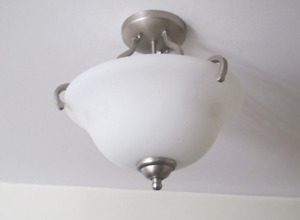 Brushed Nickel Ceiling Light-2 for $20