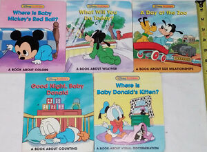 Qty 5 Disney Babies BOARD Books (Lot # 3)