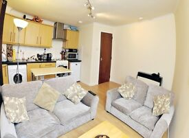 Modern Central 1 Bedroom fully furnished flat with secure off street parking