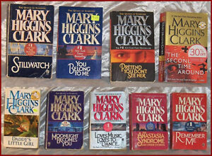 Mary Higgins Clark Mystery Paperback Pocket Novels -- Lot of 7