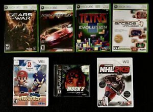 Video games (Xbox 360,WII)