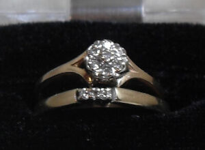 Mother's Day  - 14kt Diamond Ring Cluster/Set Open to  Offers