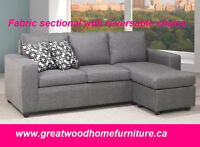 BLACK FRIDAY SALE!! LINEN FABRIC SECTIONAL ..$469..LIMITED STOCK