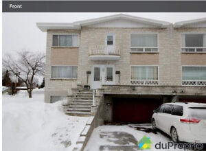 Very nice triplex 5 1/2 first floor with garage for rent