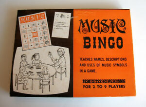Vintage 1967 Music Bingo Game