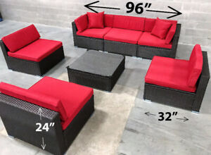 Brand New 7 piece patio furniture sectional