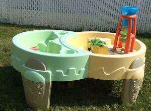 grande table d'eau et/ou sable / voiturette little tikes