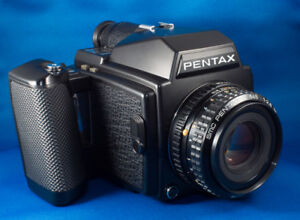 Pentax 645. Trade for Rolleicord V