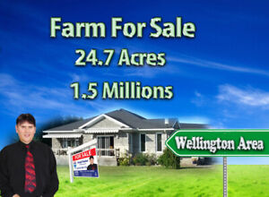 Gorgeous Farm with lot of open possibilities. 24.7 Acres