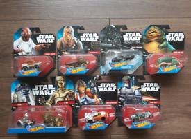 Hot Wheels Star Wars Set of 7 Character Cars £45