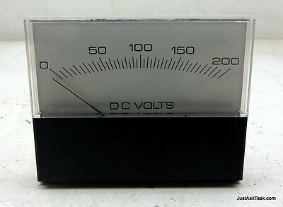 Crompton DC Volt Panel Meter 363-01/A-RLRL Range 0-200 VDC Missing One Bolt
