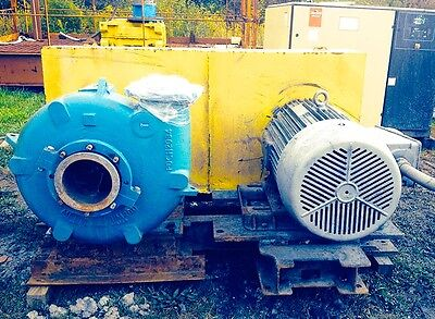 Metso Horizontal Arrangement Model Hm200 Ehc-d C5 Slurry Pump With 125hp Motor