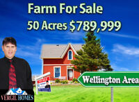 Beautiful farm for sale, 50  Acres, Development Possibility !!!