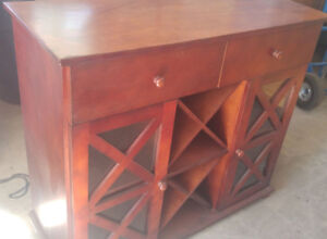 Moving- awesome Wine Cabinet and shelving unit with 2 drawers