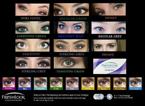 NEW PAIRS IN! FRESHLOOK COLORED CONTACTS FOR SALE!!