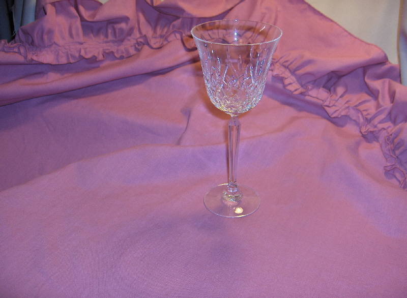 6 Vintage Mikasa Stemmed Crystal Goblets Coventry TS104 NICE