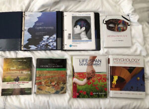 7 PSYCHOLOGY TEXTBOOKS FOR SALE!!!