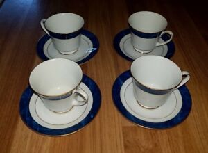 Set of 4 Legendary by Noritake Maestro Blue Teacup