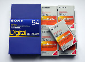 Sony Betacam professional tapes HDV Digital master tapes Brand