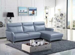 Genuine Leather Grey Sectional | Sale  (SK04)