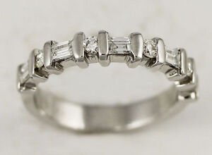 14k White Gold Diamond Band (round/baguette, 0.40/0.12) #261 Oakville / Halton Region Toronto (GTA) image 4