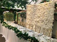 Flower walls, marquee letters and backdrops!