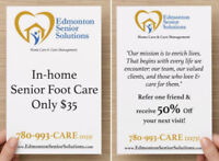 In-Home Senior Foot Care Starting at $25 including GST!!