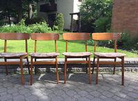 Chaises vintages en teck