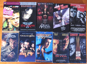 VHS movies. $8 each set of 10