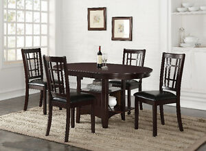 HOMETOWN- COUNTER HEIGHT 5PC DINING TABLE