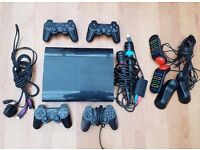 Sony PlayStation PS3 Bundle (Black Superslim 72mb) with 41 Games