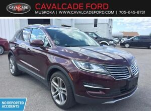 2016 Lincoln MKC Reserve with low kms, tech pkg, leather seats!