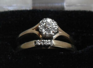 14kt gold Diamond Engagement Ring /Wedding Band (Open to offers)