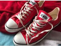 Men's red converse size 11