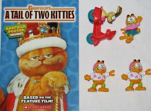 4 Garfield Toys & Tail of Two Kitties Novel