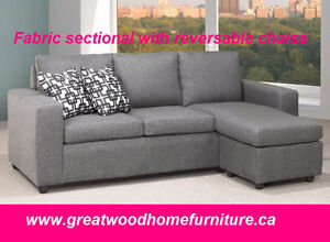 CONDO SIZE FABRIC SECTIONAL SOFA...$499 ONLY