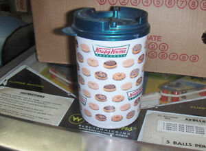 Krispy Kreme travel coffee mug