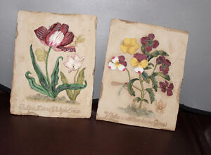 Wall Plaques - Flowers