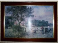 Framed Contemporary Countryside Print On Canvas
