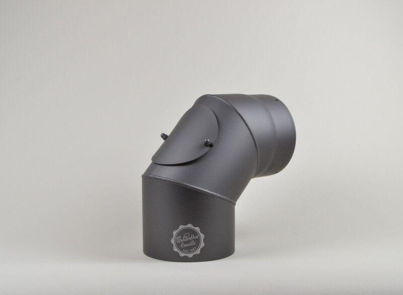 Ofenrohr Rauchrohr Kaminrohr  Bogen Senotherm 2mm 120 130 150 grau schwarz