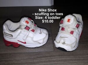 separation shoes 6d39d ad780 Baby Girls Nike Shox Running Shoes - Size 4 toddler