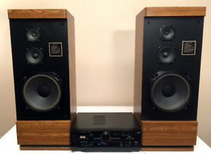 Awesome 130 Watts Marantz Tower Speaker Setup w/ Amp SEE VIDEO