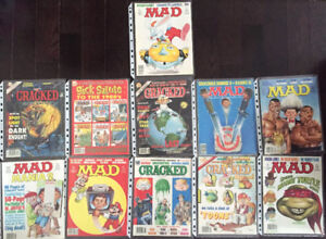 Vintage Mad Cracked Monsters Attack Magazine Comics Lot