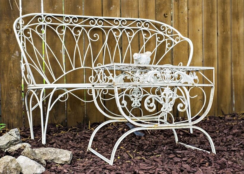 How to restore vintage outdoor furniture ebay Vintage metal garden furniture