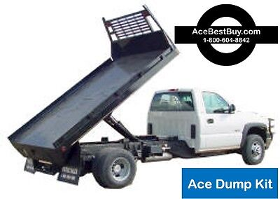 FLATBED Dump Bed Hoist Kit. Turn pickup dump truck. 15,000 lbs. Easy install.