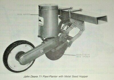 John Deere 71 Flexi Planter Parts Catalog Manual Book 1180 Original Corn Bean