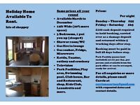 Static Caravan available for holidays