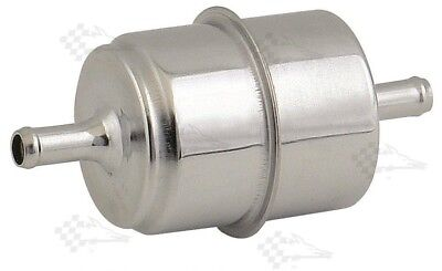 Chrome Canister Inline Fuel Filter - 5/16